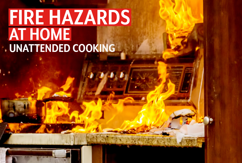 Unattended cooking is the leading cause of fires